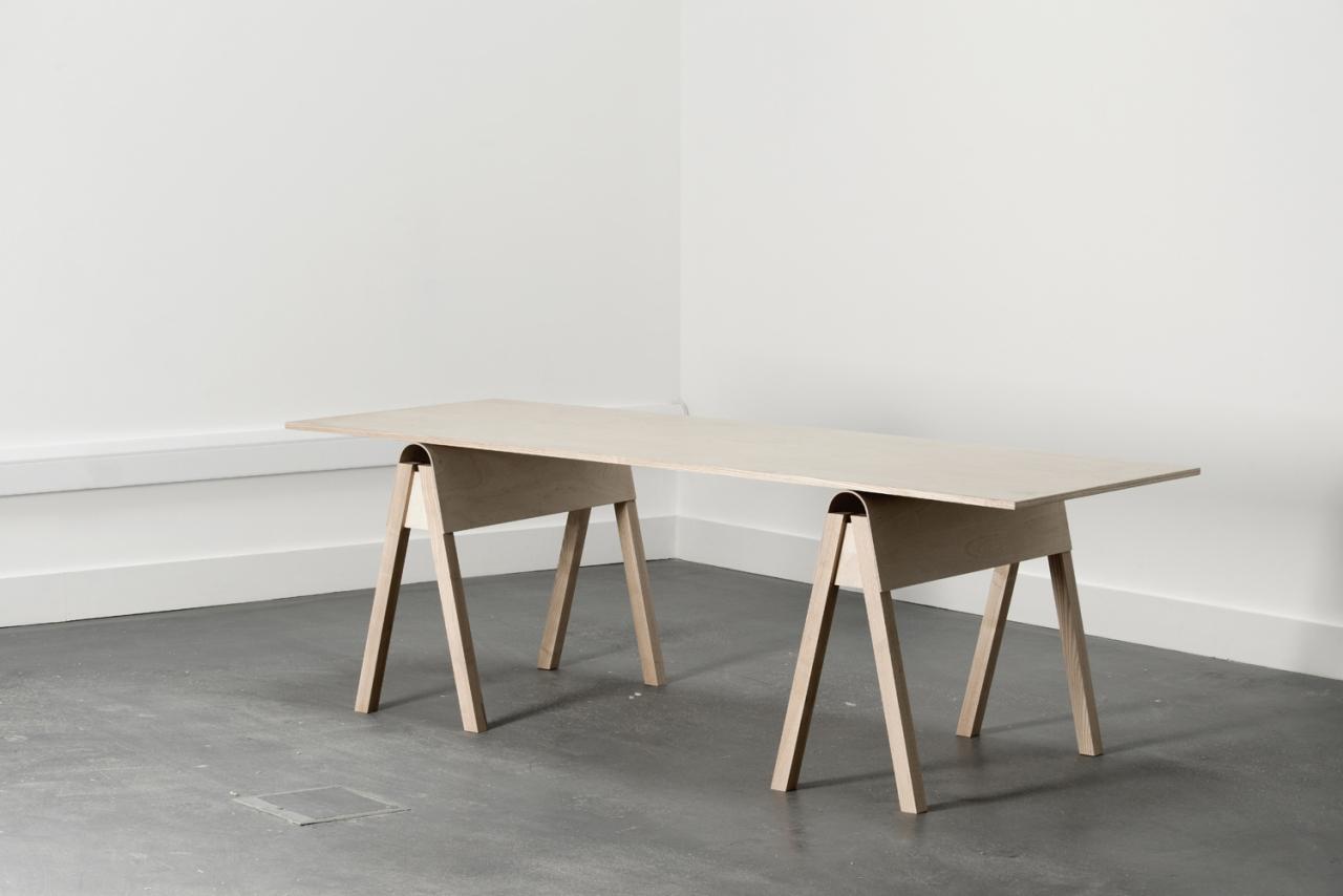 Catherine Aitken studio Aero Trestle Table