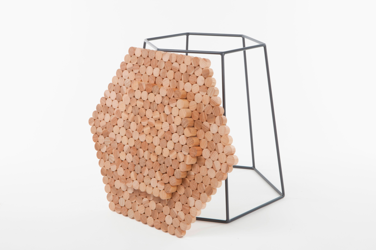 Catherine Aitken studio Hexaform Side Table